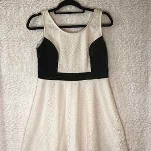 Xhilaration Black white mini dress Large